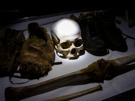 Human remains from case #2186, an undocumented border