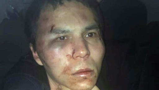 Reina club attacker after being caught by Turkish police in Istanbul, late Monday, Jan. 16, 2017. Turkish media reports say police have caught the gunman who killed 39 people at an attack on a nightclub in Istanbul during New Year's celebrations, detained during a police operation.