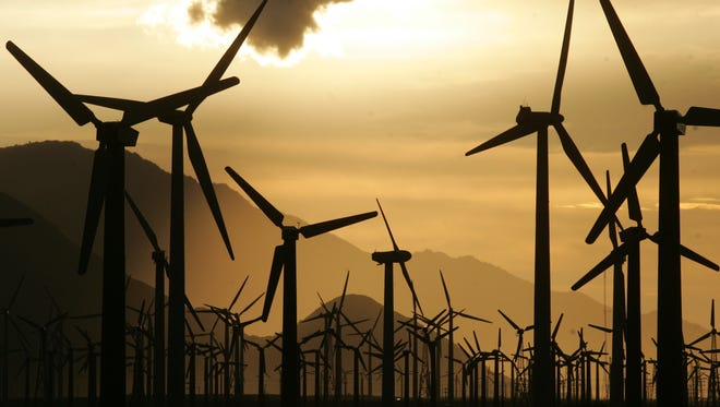 The windmills north of Palm Springs.
