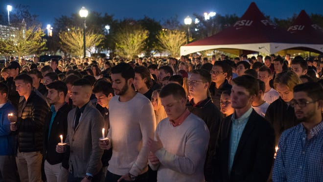 Students gather to remember 20-year-old Andrew Coffey.