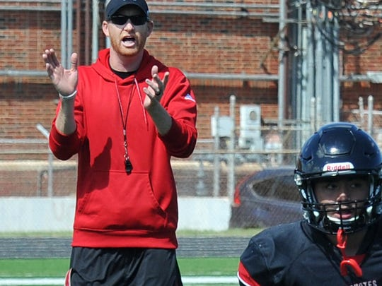 Wichita Falls High School's Grant Freeman is one of seven new area head coaches at the 11-man level this season.