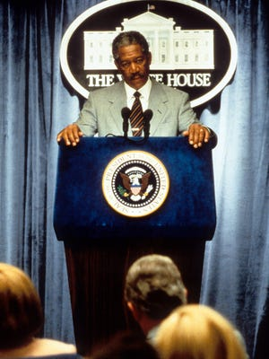Morgan Freeman's rise to onscreen power began with his turn in the Oval Office in 1988's 'Deep Impact.'