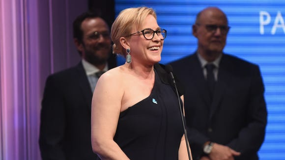 Honoree Patricia Arquette accepts the Vanguard Award