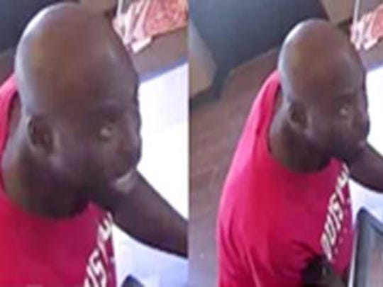 LMPD released surveillance pictures of a suspected robber who took money from a Pizza Hut in Shively and a laundromat near University of Louisville.