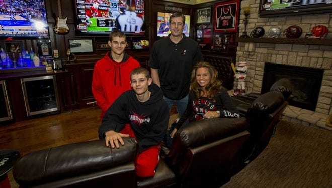 Keith and Sherry Gregor decided to convert their Bridgetown dining room last year a while after conflicting Bengals and UC basketball games forced them to hang a second TV in the room so they could watch both games at the same time.