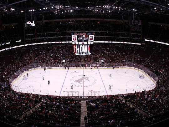 The Arizona Coyotes face off against the Detroit Red