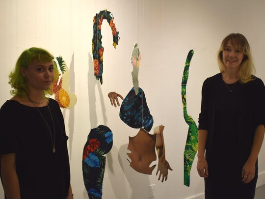Katie Hector (left) and Patricia Brace, curators of