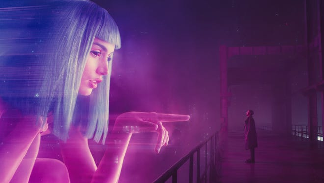 "Ana De Armas and Ryan Gosling in Alcon Entertainment's sci-fi thriller ""Blade Runner 2049,"" a Warner Bros. Pictures and Sony Pictures Entertainment release, domestic distribution by Warner Bros. Pictures and international distribution by Sony Pictures."