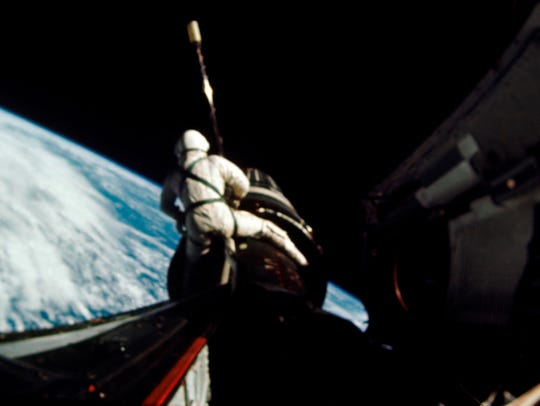 In this September 1966 photo provided by NASA, astronaut