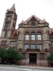 The exterior of Cincinnati City Hall.