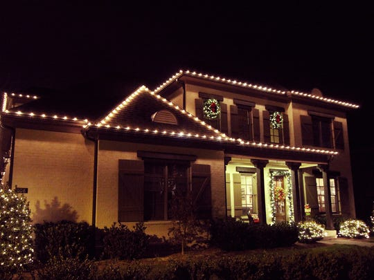 This home on Lanes End in Franklin is festive with