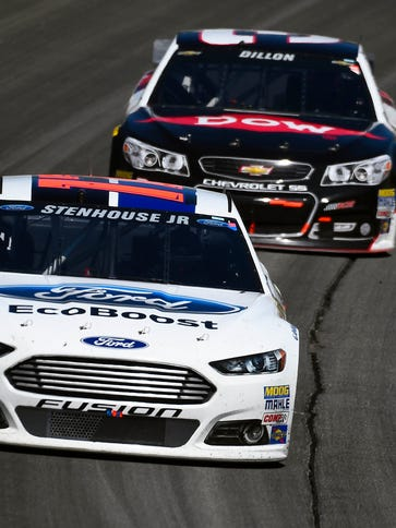 Ricky Stenhouse Jr., front, and Austin Dillon could
