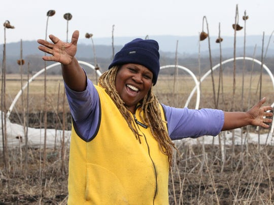 Karen Washington is co-owner of Rise & Root Farm in Chester Feb. 22, 2017. She co-founded Black Urban Growers, which is based in the Bronx.