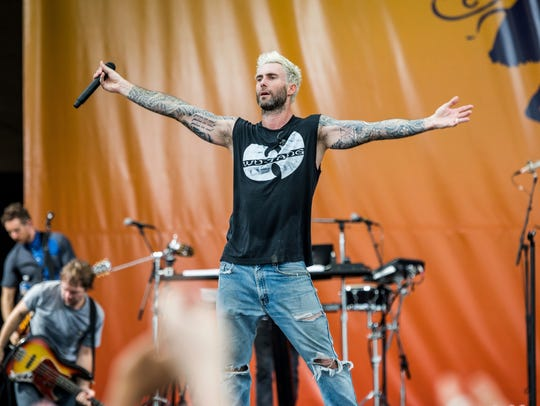 Maroon 5, fronted by Adam Levine, got rowdy when it