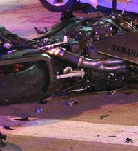 Two injured in downtown motorcycle accident