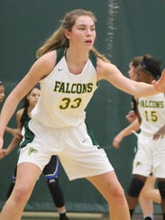 Sophomore center Ellie Ruprich (33) led Groves in the