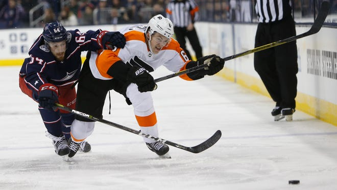 Travis Sanheim and the Flyers follow up three games in four nights with eight games in 23 days.