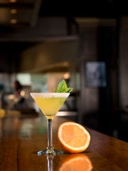 The Grapefruit and Basil Martini at Thirsty Lion.