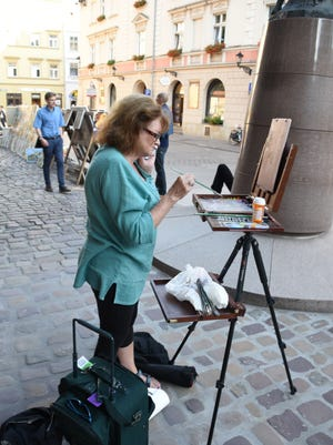 El Paso artist Krystyna Robbins spent a month in Poland and painted various scenes which she will be showcasing at an exhibit in El Paso April 8.
