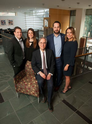 From left: Adam and Melissa Yoskowitz, Arnold Rabson, MD, director of the Child Health Institute of New Jersey at Rutgers Robert Wood Johnson Medical School, and Canaan and Sarah Himmelbaum.