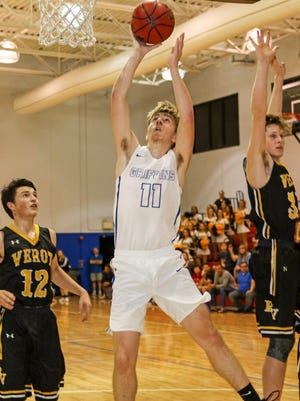 Gateway forward Blake Ambrose slips behind the Viking defense during the Griffins' 73-72 win on Monday night.