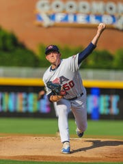 Wapahani grad Zack Thompson pitches for the Team USA