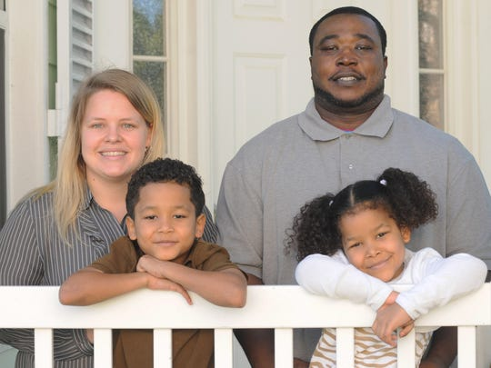 Darcey and Daniel Addo (both are teachers) with their children Sammy, 7, and Maliyah, 6, at home in Palm Bay. They are opting out of state tests in public school.The main reason that they are doing this is to better empower teachers to be the instructor and assess their students.
