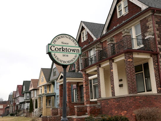 Corktown historic district is just west of downtown