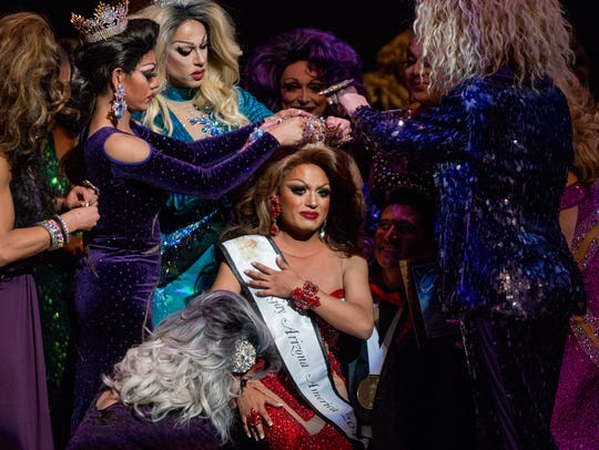 Former queens crown Adrianna Galliano as Miss Gay Arizona