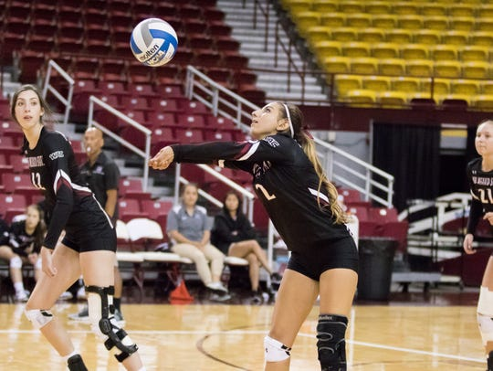 New Mexico State's Analyssa Acosta, a freshman from