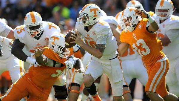 Riley Ferguson could end up being UT's starting quarterback.