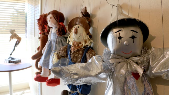 A series of puppets hang on a wall at the DiFiore Center in St. George in preparation for A Day of Puppetry on March 18.