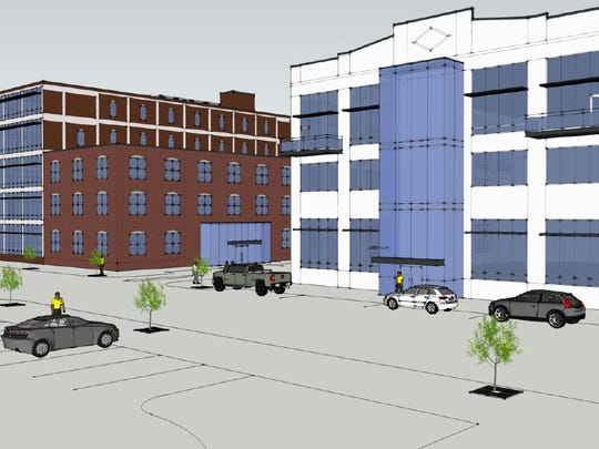 A rendering of the V Loft District, one of the proposed projects in Sioux City's Reinvestment District application.