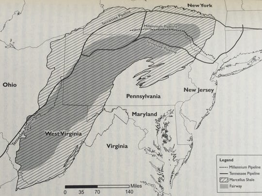 The Marcellus Shale, the largest natural gas reserve in the country, runs through West Virginia and Pennsylvania and extends into the Southern Tier of New York