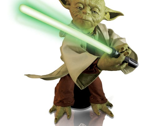 Spin Master Corp.'s Legendary Yoda toy. The toy is 16 inches tall and boasts lifelike movements and voice recognition.