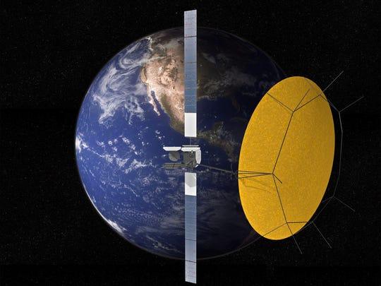Artist rendering of one of the Mexsat satellites built