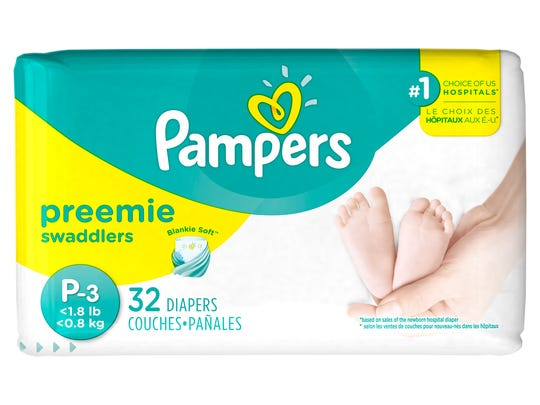 Procter & Gamble's Pampers brand is rolling out its smallest diaper ever, a size P-3 diaper to serve premature babies.