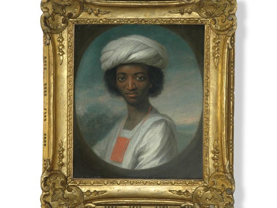 Portrait of Ayuba Suleiman Diallo, circa 1733. Diallo was a freeborn, educated African who was kidnapped and sold as a slave in Maryland.