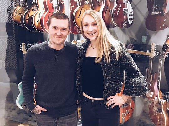 Brian Fallon is pictured at Lakehouse Recording Studios