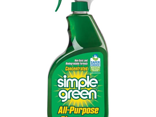 Simple Green All-Purpose Cleaner is a nontoxic and