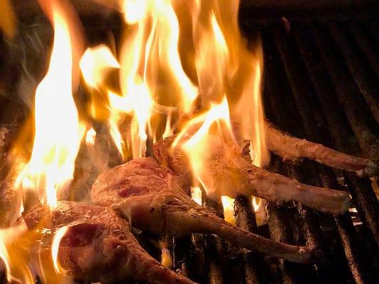Chops on fire