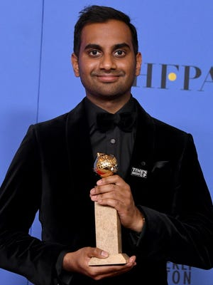 Aziz Ansari won best actor in a musical or comedy TV series for 'Master of None' at the 2018 Golden Globes.
