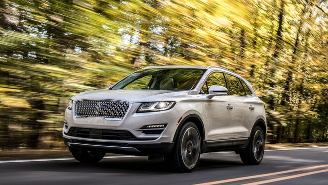 The 2019 Lincoln MKC compact crossover features a new grille and such new safety features as pre-collision assist and pedestrian detection.