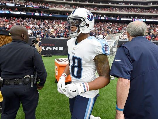 Titans wide receiver Rishard Matthews (18) did not