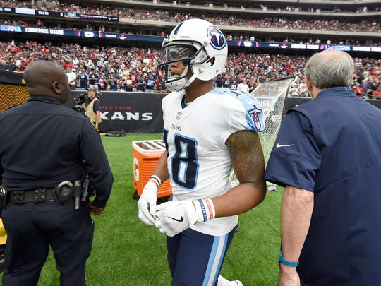 Titans wide receiver Rishard Matthews (18) did not