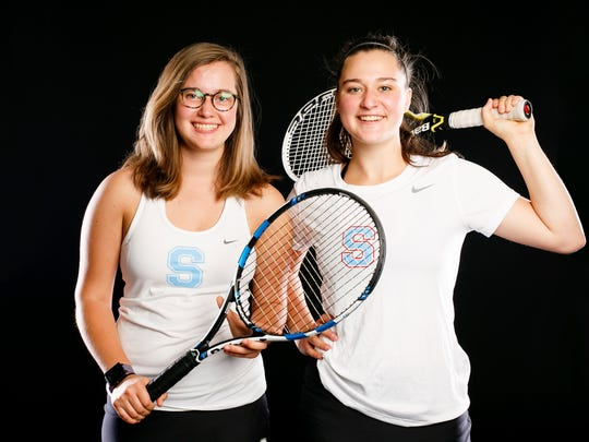 South Salem tennis players Jillian and Loryn Studer for the Statesman Journal Sports Awards on Wednesday, May 17, 2017.