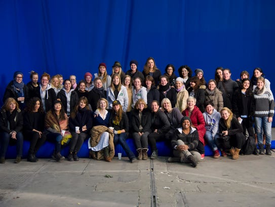 A group shot of many of the women who worked on 'The