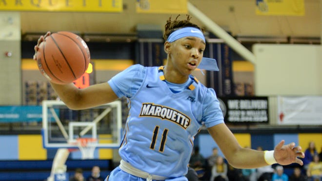 Allazia Blockton paced Marquette with 21 points.