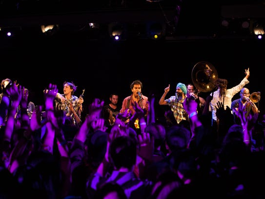 Red Baraat performs its high-energy world music Friday