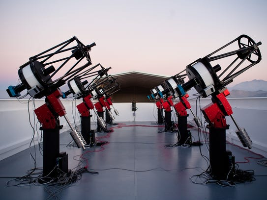 The MEarth-South telescope array, located on Cerro
